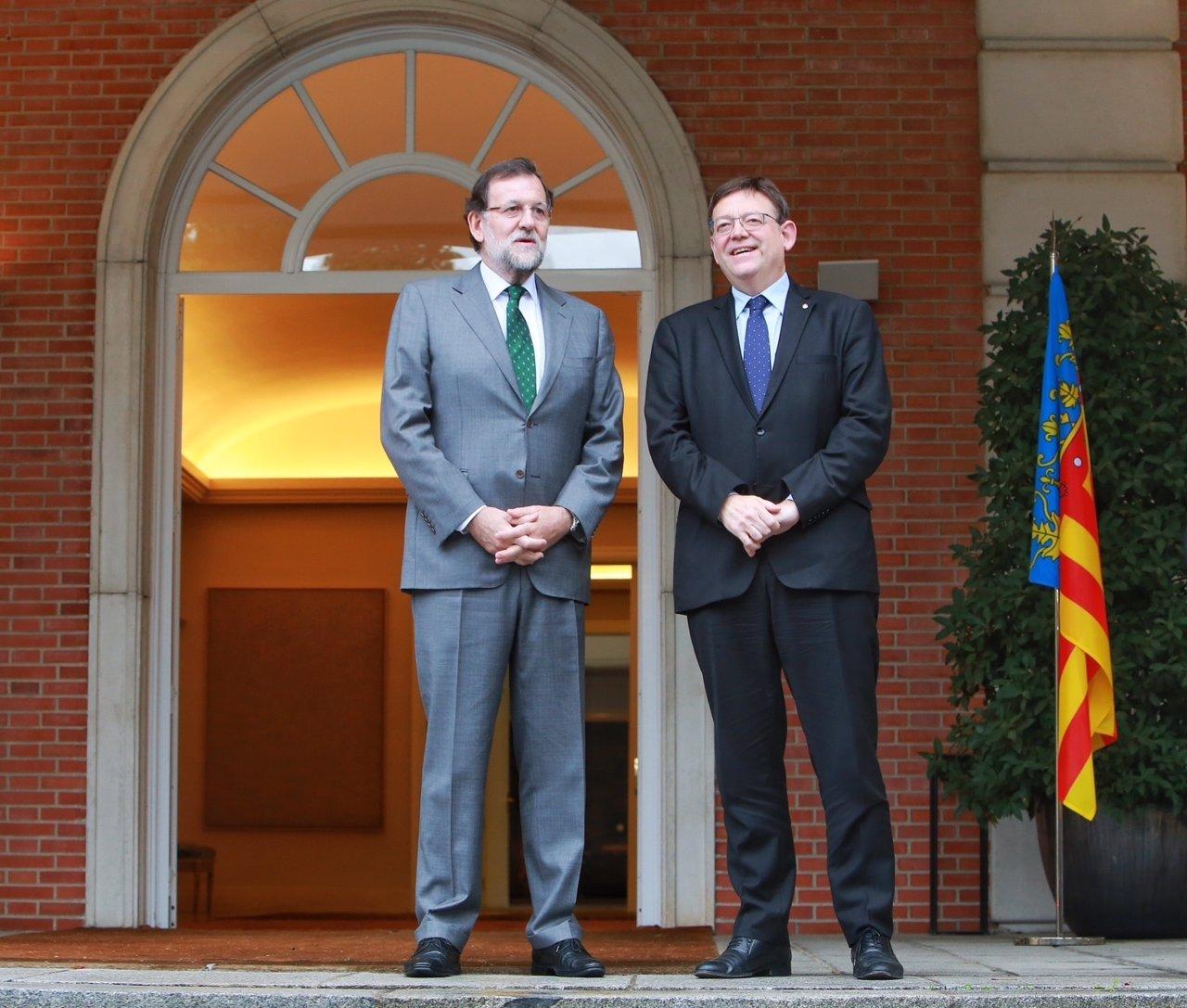 Reunión de Rajoy y Puig en La Moncloa