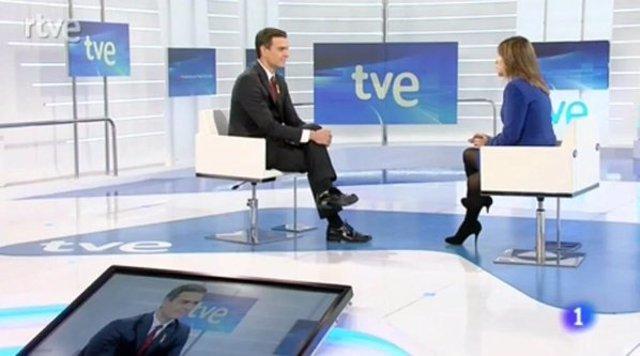 Pedro Sánchez, en TVE