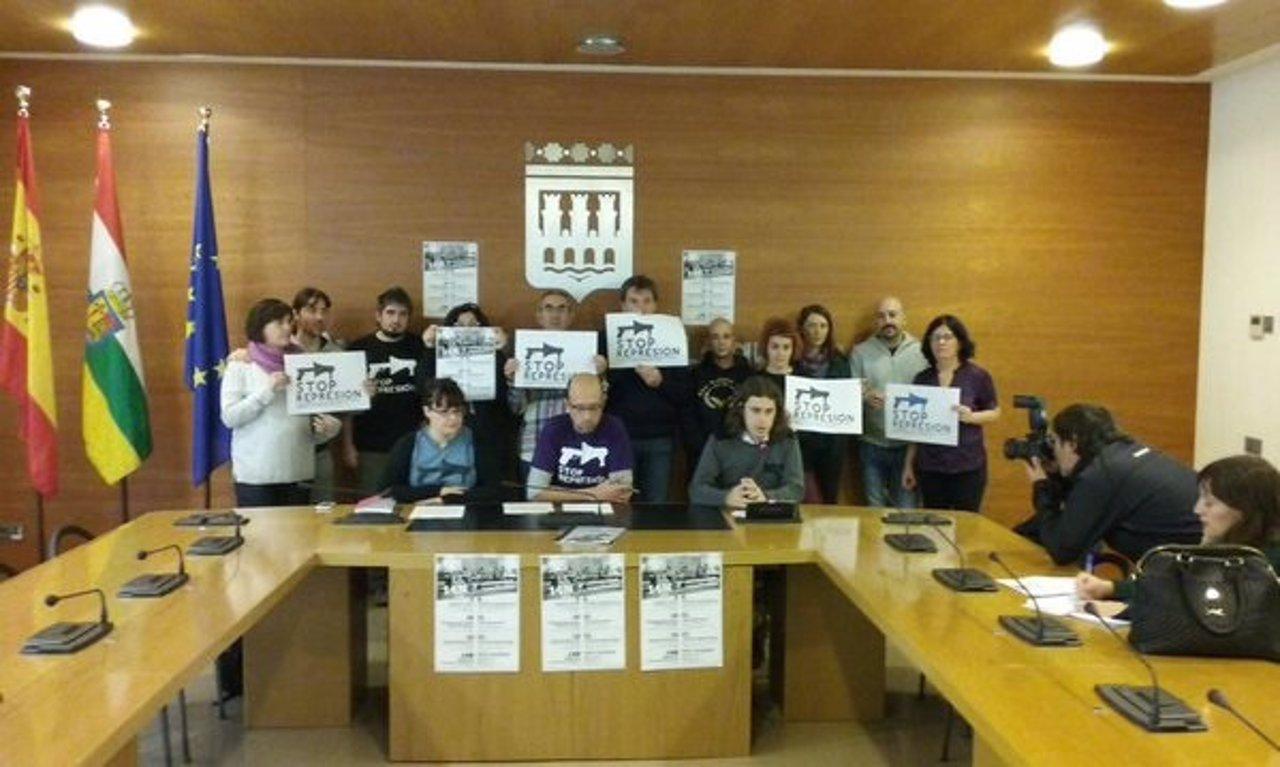 Cambia Logroño y la Plataforma Stop Represión
