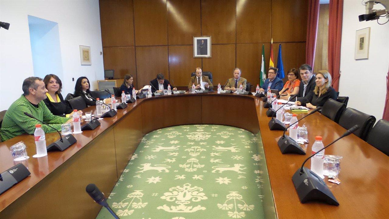 Reunión de la comisión de investigación sobre formación en el Parlamento andaluz