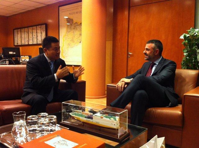 Zhou Enyong y Santi Vila