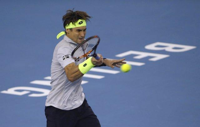 David Ferrer en el torneo de Pekín