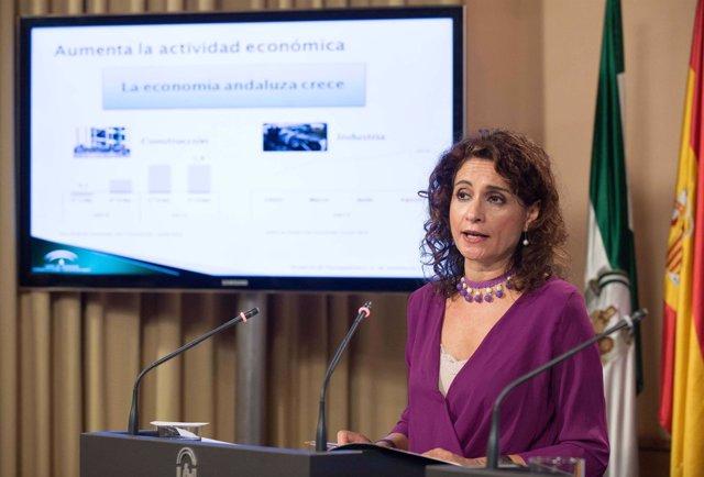 La consejera de Hacienda, María Jesús Montero, presenta los presupuestos de 2016