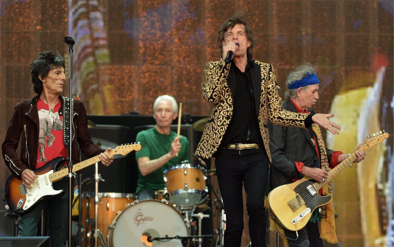 The Rolling Stones. Ron Wood, Charlie Watts, Mick Jagger,  Keith Richards