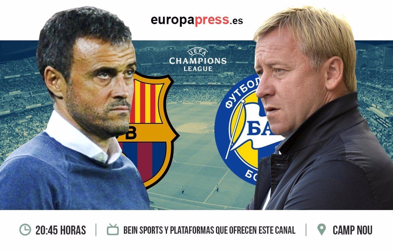 F.C. Barcelona - Bate Borisov   Cuarto partido  fase de grupos Champions League