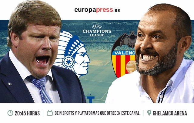 Horario y dónde ver Gent - Valencia | Partido fase grupos Champions League
