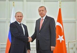 Putin y Erdogan hablan de la situación en Siria tras la cumbre internacional celebrada en Viena