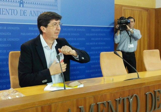 Juan Marín, hoy ante los medios