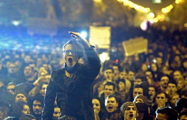 Manifestación en Rumanía contra el Gobierno