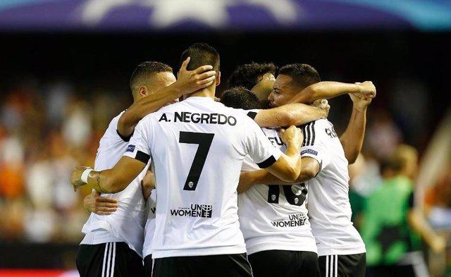 Negredo, Valencia CF- AS Mónaco