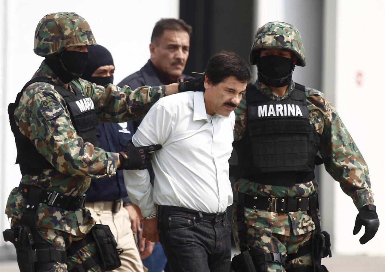 El narcotraficante mexicano Joaquín 'El Chapo' Guzmán