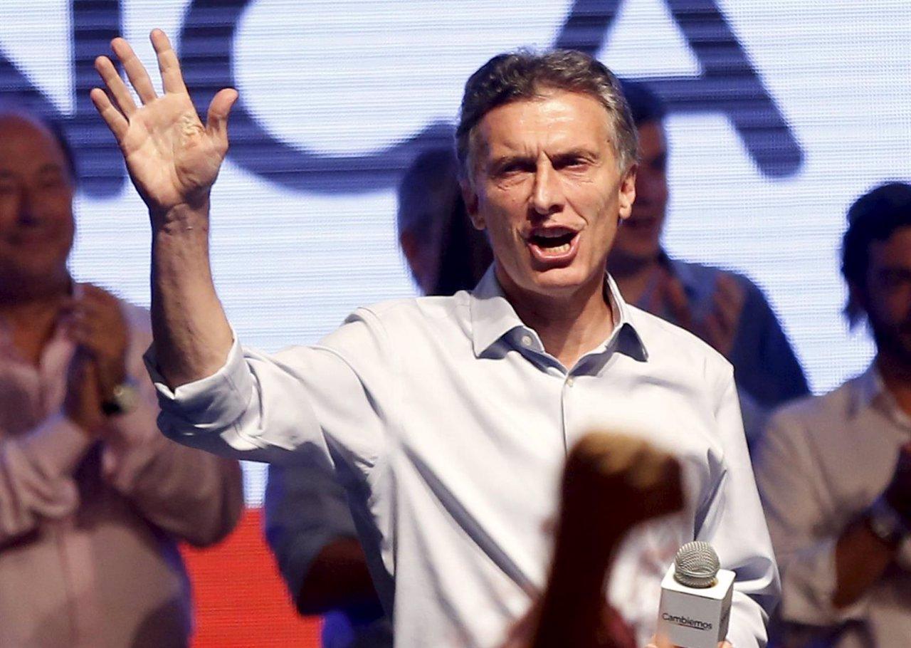 El candidato presidencial de Cambiemos, Mauricio Macri