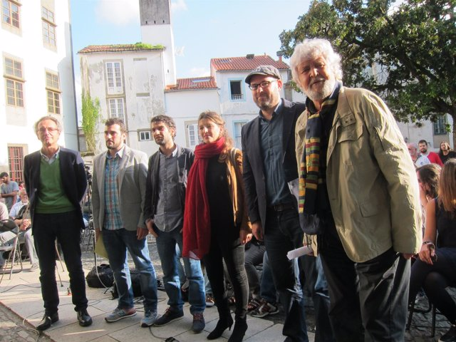 Foto preacuerdo político Anova, Podemos Galicia y Esquerda Unida