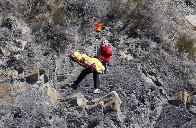 ZOna del accidente del avión de Germanwings estrellado en los Alpes