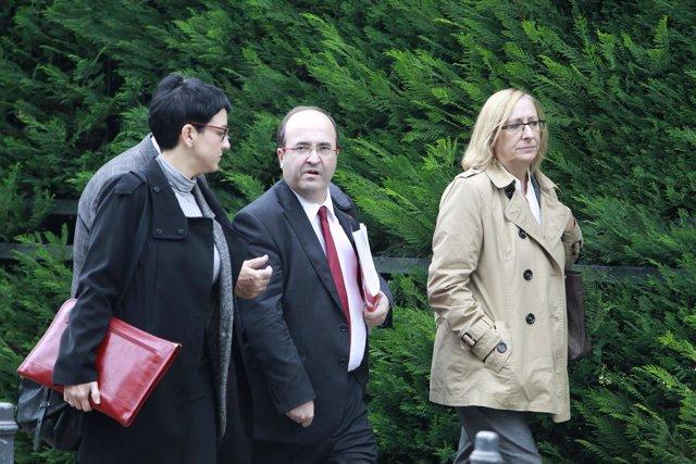 Miquel iceta a su llegada al Tribunal Constitucional
