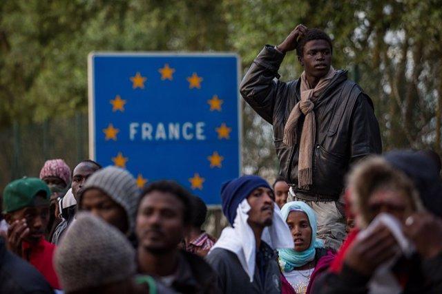 Inmigrantes en Calais (Francia)