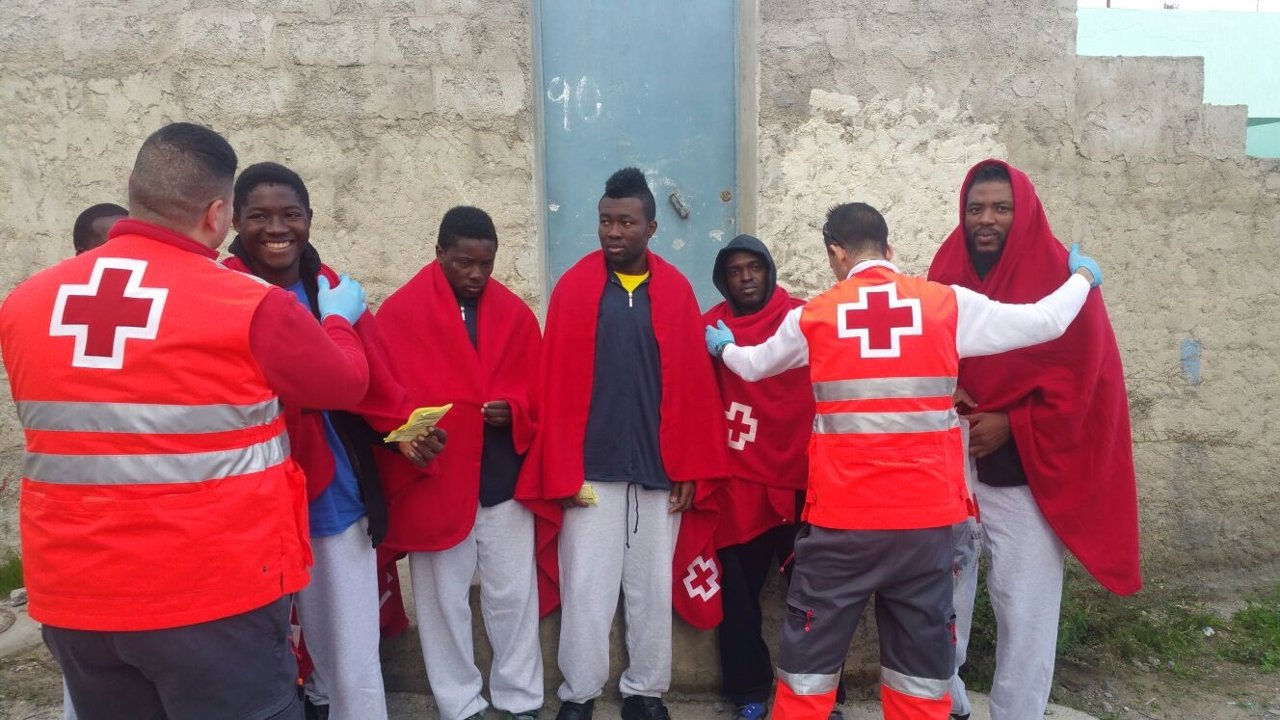 Inmigrantes atendidos hoy en Ceuta