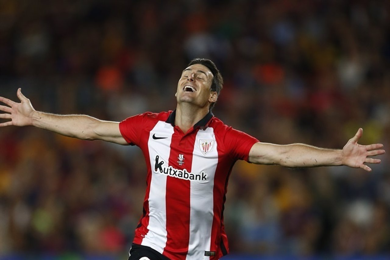 Aduriz, Final Supercopa. Barcelona FC- Athletic Club