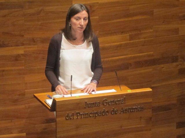 Lucía Montejo en la Junta General del Principado de Asturias
