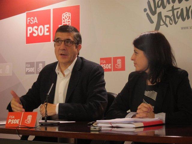Patxi López y Adriana Lastra.