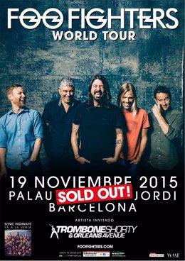 Cartel del concierto de Foo Fighters en Barcelona
