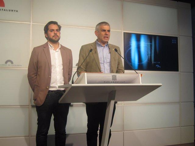 Rueda de prensa de Carlos Carrizosa y Fernando Tomás de Páramo (C's)