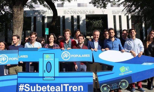Presentación de la campaña 'Subete al tren'