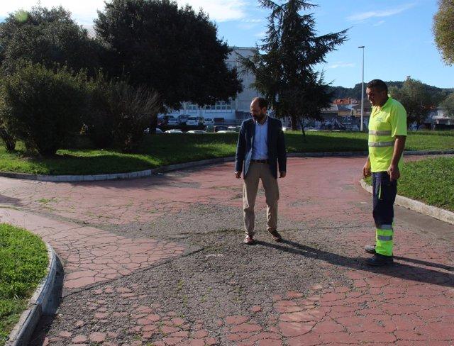 José Luis Urracan visita las obras