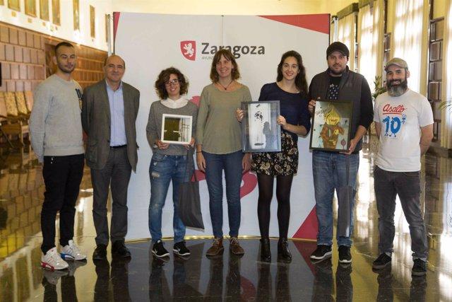 Artigas con los premiados de #paradaASALTO