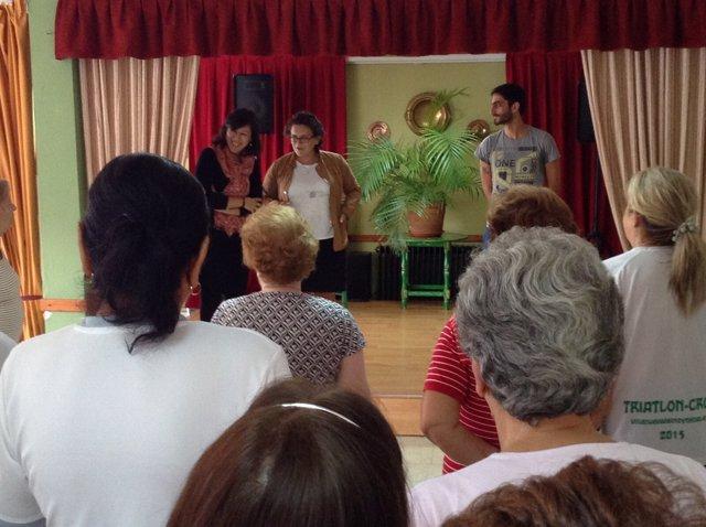 Díaz Alcaide en los Centros de Participación Activa