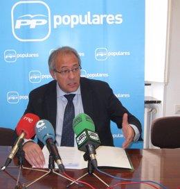 El presidente del Grupo Municipal Popular, Antonio Martínez Bermejo