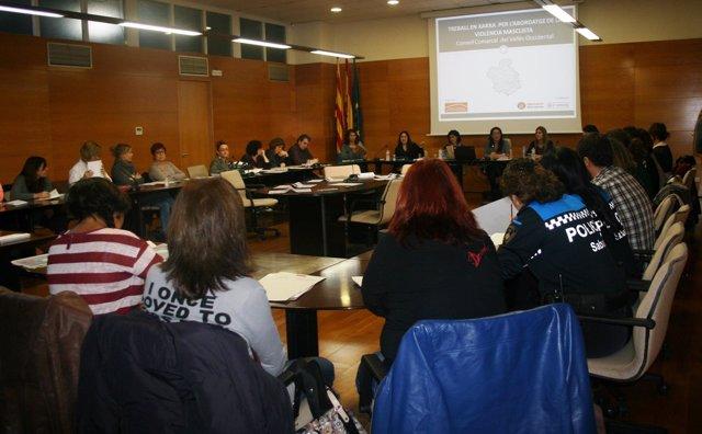 La reunión en la que se discutió la elaboración de un protocolo