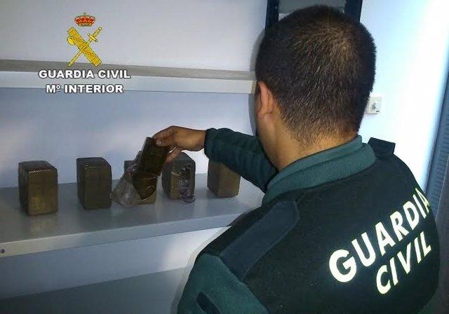 Droga incautada en Aracena (Huelva).