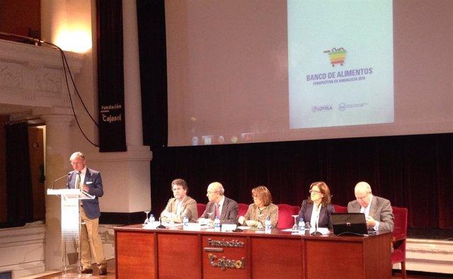 Presentación del informe de Bancos de Alimentos realizada en Sevilla