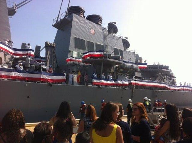 El destructor 'US Carney' llega a la base naval de Rota