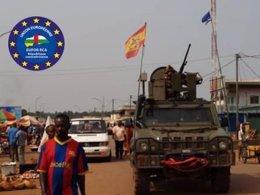 Patrulla del Ejército de Tierra por el tercer distrito musulmán de Bangui