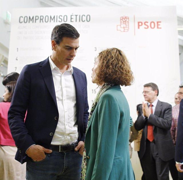 Pedro Sánchez y Meritxell Batet