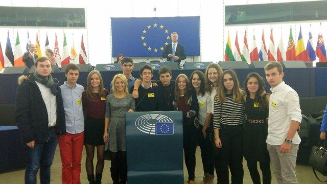 Estudiantes del IES Hermanos Argensola de Barbastro en Estrasburgo