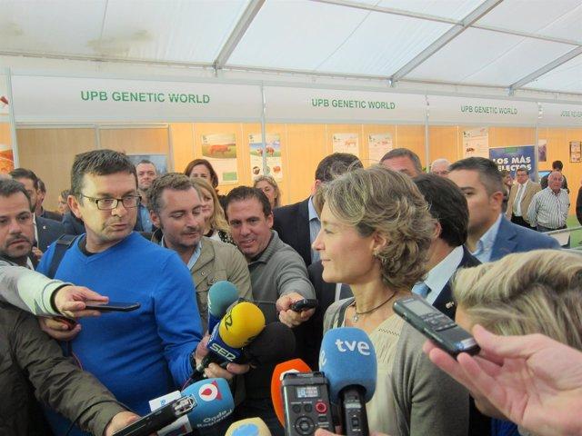 Isabel García Tejerina, Durante Su Visita A Lorca