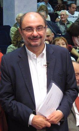 El presidente de Aragón y secretario general del PSOE-Aragón, Javier Lambán