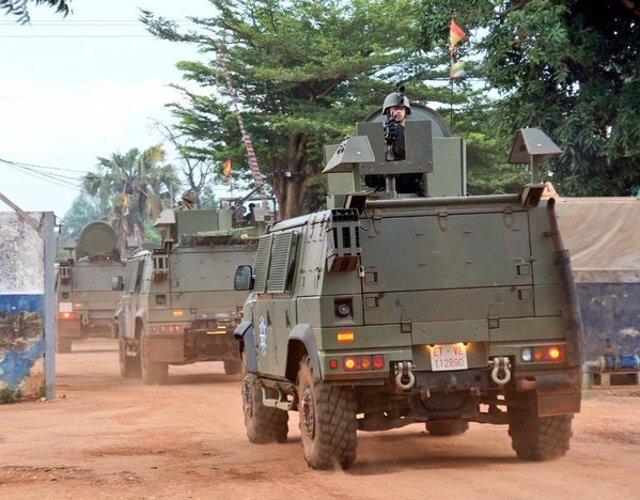 Militares del regimiento 'Palma 47' en República Centroafricana
