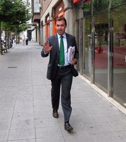 Fernando Martínez Maíllo A Su Llegada A La Sede Regional Del PP