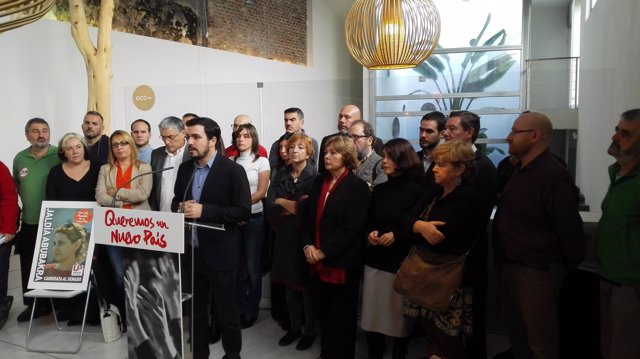 Alberto Garzón en la presentación de Unidad Popular