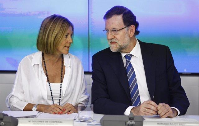 Rajoy y Cospedal en el Comité Ejecutivo Nacional del PP