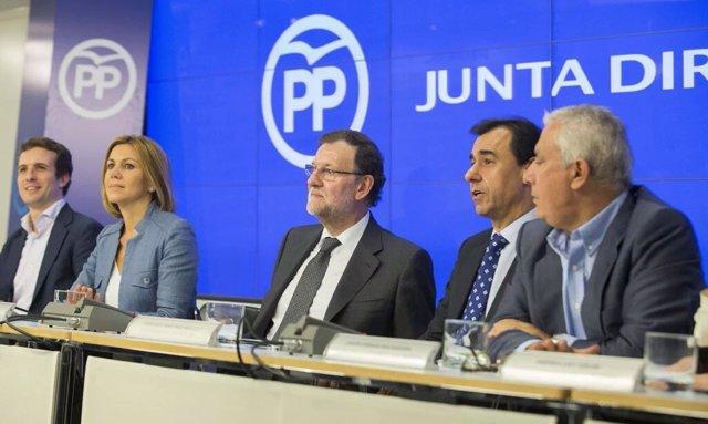 Mariano Rajoy en la Junta Directiva Nacional