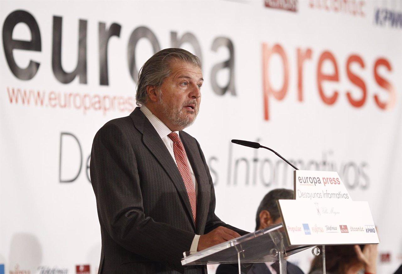 El ministro de Educación, Cultura y Deporte, Iñigo Méndez de Vigo