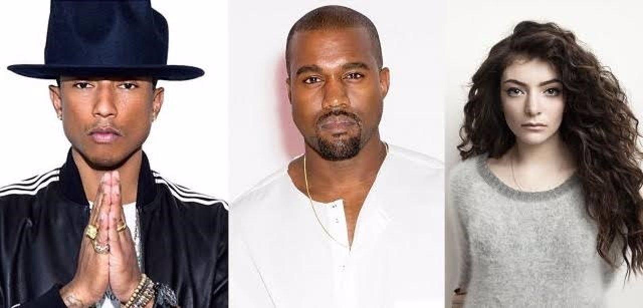 Pharrell, Kanye y Lorde