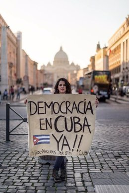 Manifestacion en Cuba