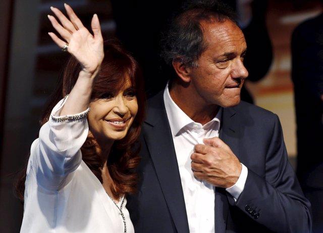 Cristina Fernández de Kirchner y Daniel Scioli