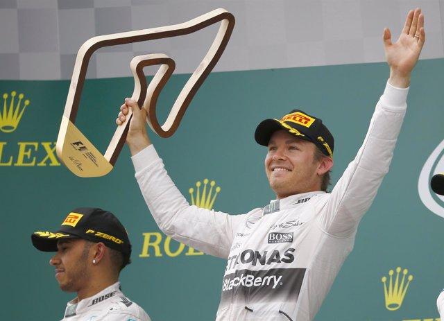 Mercedes Rosberg Austria Hamilton
